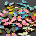 2015 New 50pcs 2 Holes Mixed Butterfly Wooden Buttons Sewing Scrapbooking DIY  Christmas  Gift  6LVB