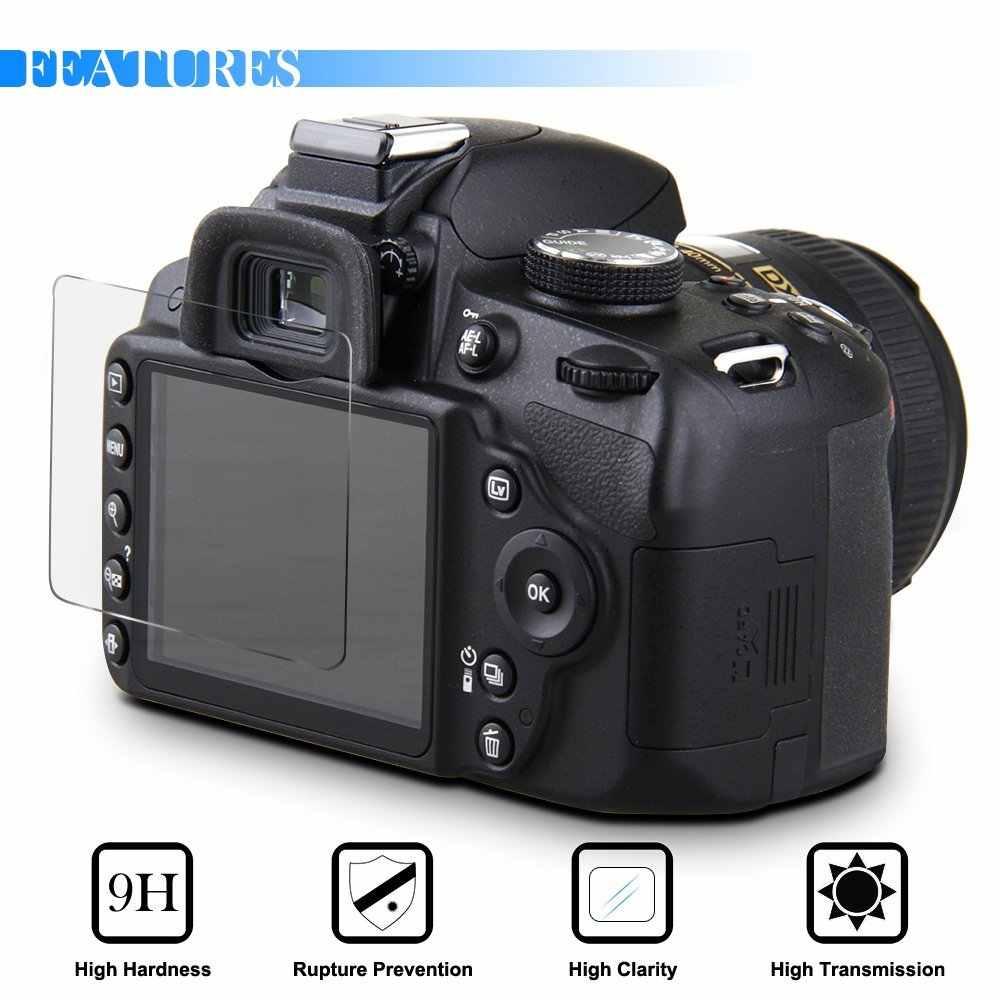 2x9 H vidrio templado Protector de pantalla LCD para Canon EOS 200D II 250D SL3 SX60 HS IXUS 132 is 115 Olympus TG-6 TG-630 Pentax K-5 II