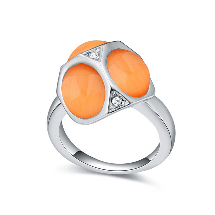 Fashion Opal Ring For Women Female Wedding Finger Rings Bijoux Jewellery