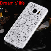 Dream V Life The Silver High Quality  1pcs Luxury Transparent Fashion Platinum TPU Case Cover For  Samsung Glaxy S7 Edge  Oct 13