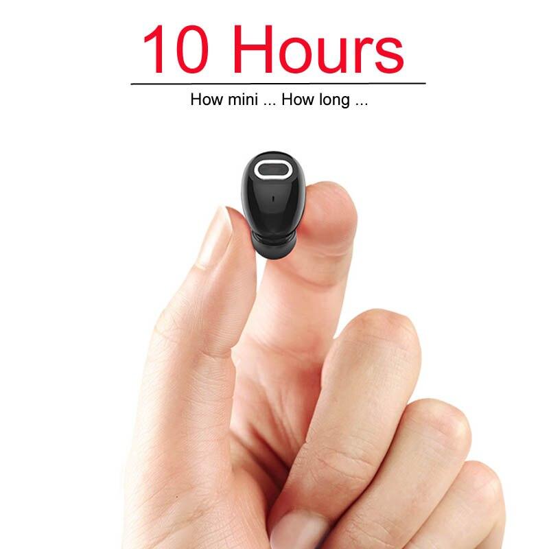 Mini Bluetooth Intra-auriculaires 10 Heures Temps de Musique Sans Fil Bluetooth Écouteur Casque Mains Libres Pour iPhone Xiaomi PC TV Sport voiture Conduite