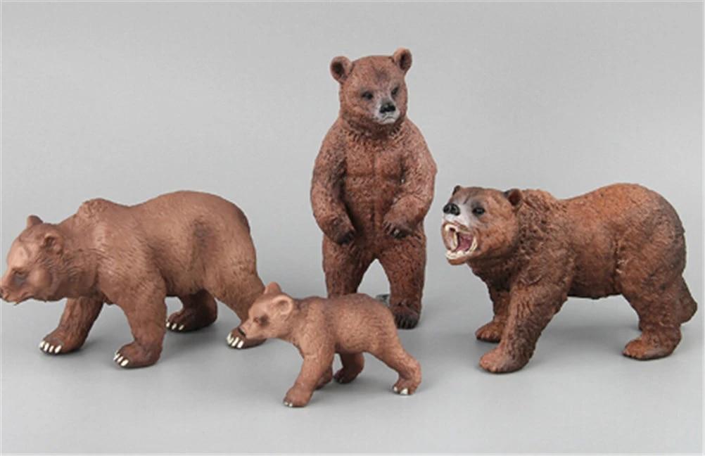 PVC Animals Polar Bear Static Model Action Figures Kids Educational Toys Giftuy