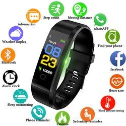 Ini Baru Smart Watch Pria Wanita Monitor Detak Jantung Tekanan Darah Kebugaran Tracker Smartwatch Sport Smart Gelang untuk IOS Android