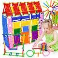 Бесплатная Доставка 500 шт./лот Детские Строительные Блоки Палочки с Коробкой Многоцветный Пластиковые Соберите Образовательные Игрушки Лет Со Дня Рождения Подарок для Детей