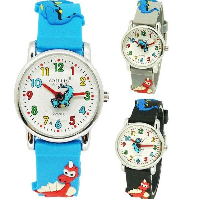 Kids Watches Children Silicone Waterproof Dinosaur Wristwatch Brand Quartz Wrist