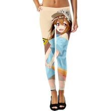 YX Girl Plus Size 3d Print Cartoon Hatsune Miku Womens Sex Leggings Women Legging Pant Workout Mid Waist