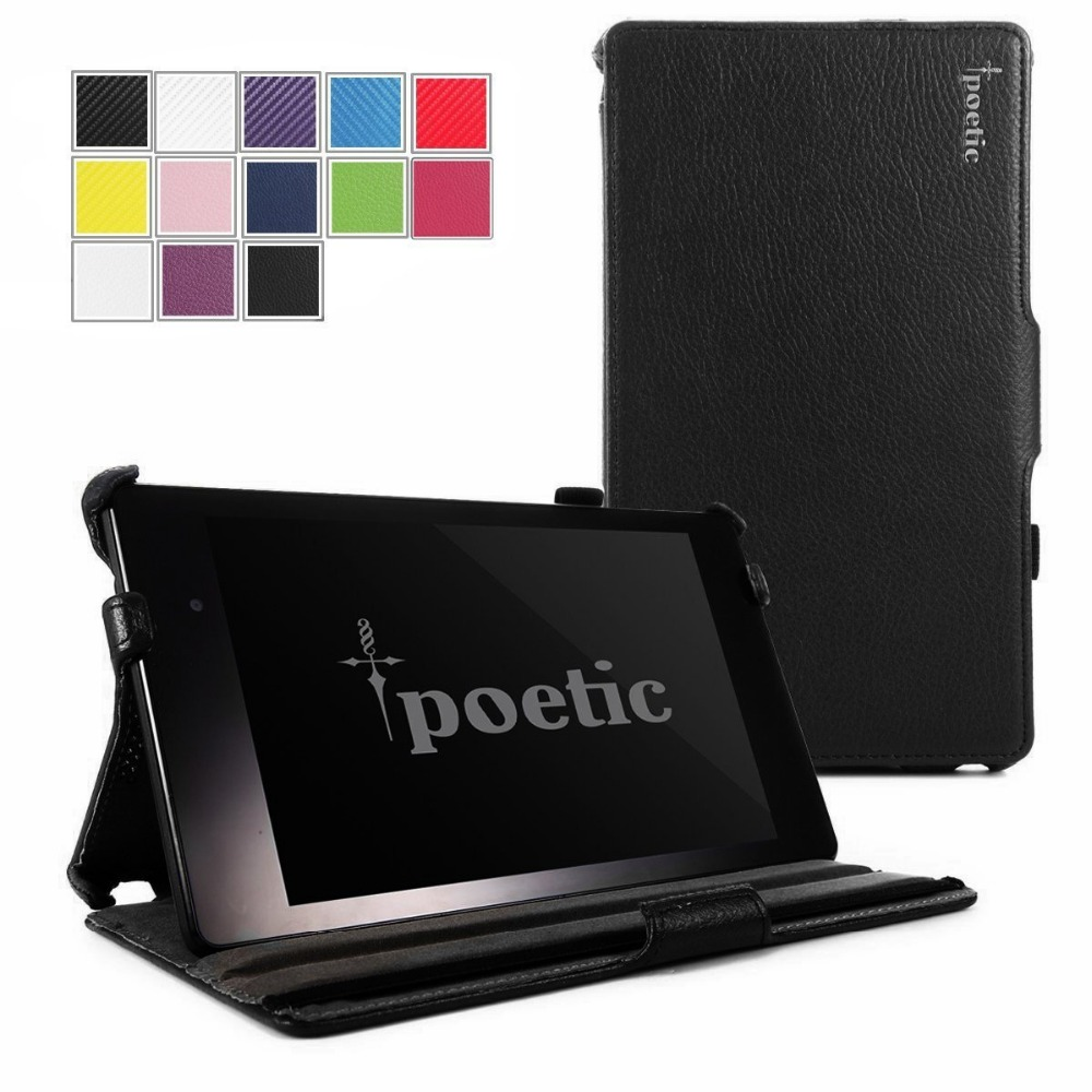 PU Leather Case for ASUS Google Nexus 7 2013,Joylink View Stand Protective Cover for Nexus 7 2nd Gen Poetic StrapBack Case