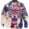 New 2015 Spring Women Men 3D Sweatshirts.Sexy Clothes Tiger Head Animal Lion Pharaoh Pattern Printed Hoodies Plus Size S-XL
