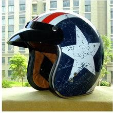 free shipping CASCO CAPACETES TORC Motorcycle helmet retro 3/4 open face vintage helmet DOT rebel star half face helmets