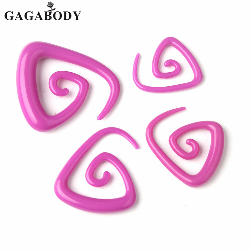 Rose 3mm 5mm 6mm 8mm Rose Pink Acrylic Taper Claw Flesh Tunnels Bull Expander Ear Stretcher Plug 1pair