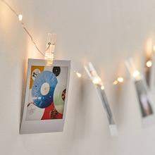 купить!  5 М DIY Фото Клип Гирлянда Батареи / USB Приведенные в действие Декоративные фонари Фея На