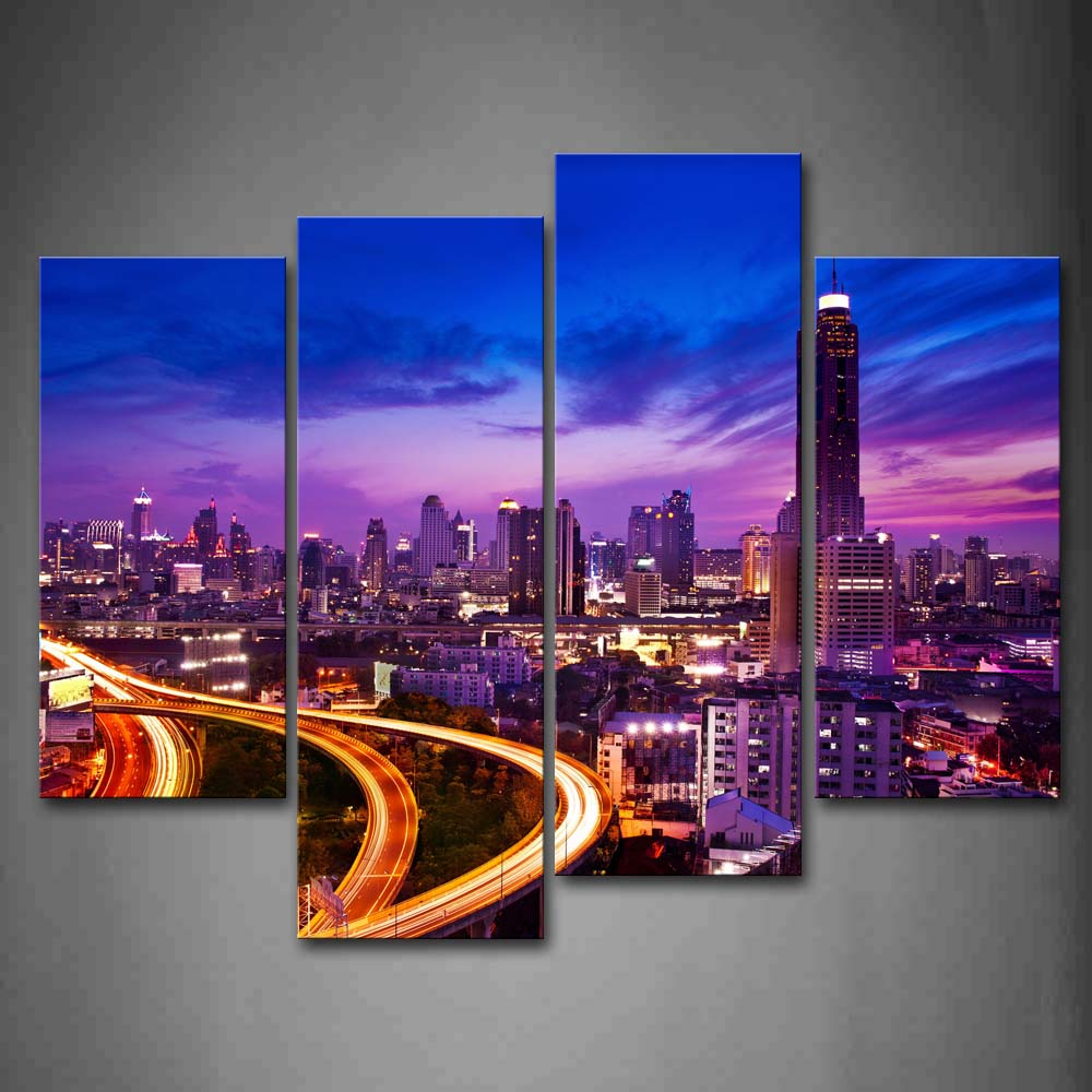 Framed Wall Art Pictures Timelapses Buildings Houston Canvas Print City Modern Posters With Wooden Frame For Living RoomFramed Wall Art Pictures Timelapses Buildings Houston Canvas Print City Modern Posters With Wooden Frame For Living Room