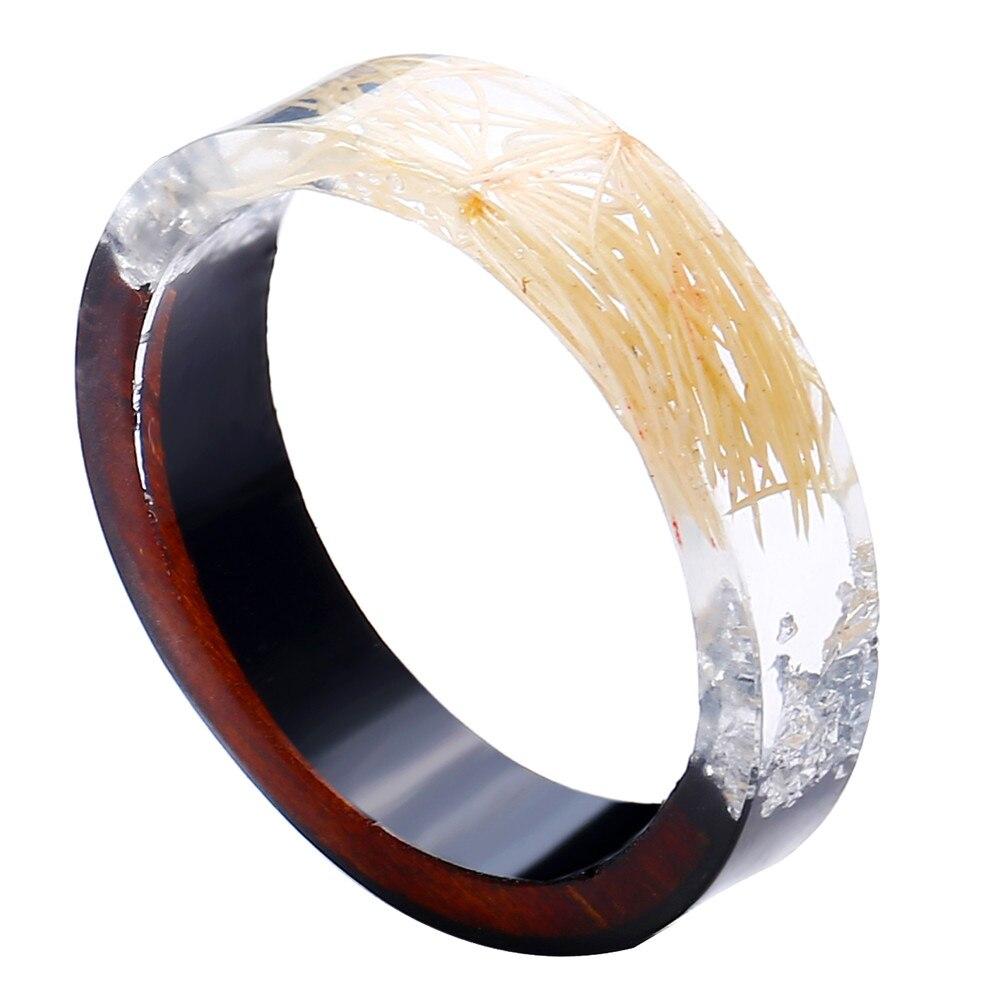 dried flower ring - resin flower ring