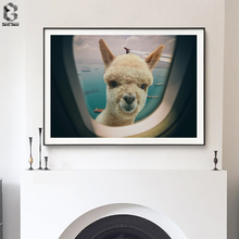 Fantastic Alpaca Posters and Prints Wall Art Canvas Painting Woodland Nursery Decoration Picture Modern Home Decor