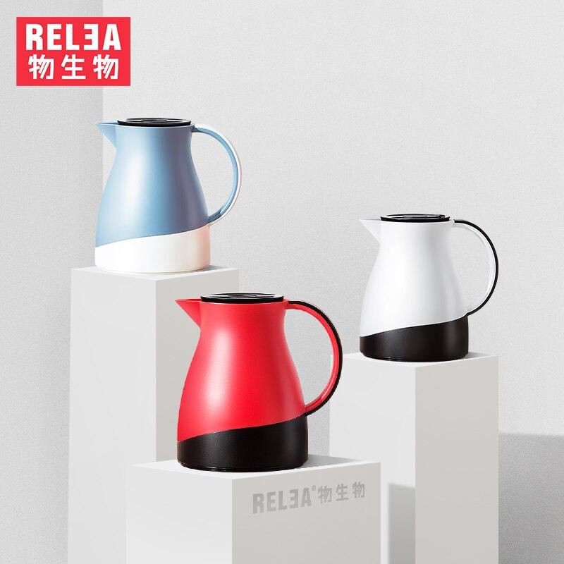1.5L grand thermos pot verre réservoir intérieur conteneur eau café thé cruche ménage vide flacons isolation bouilloire sans BPA