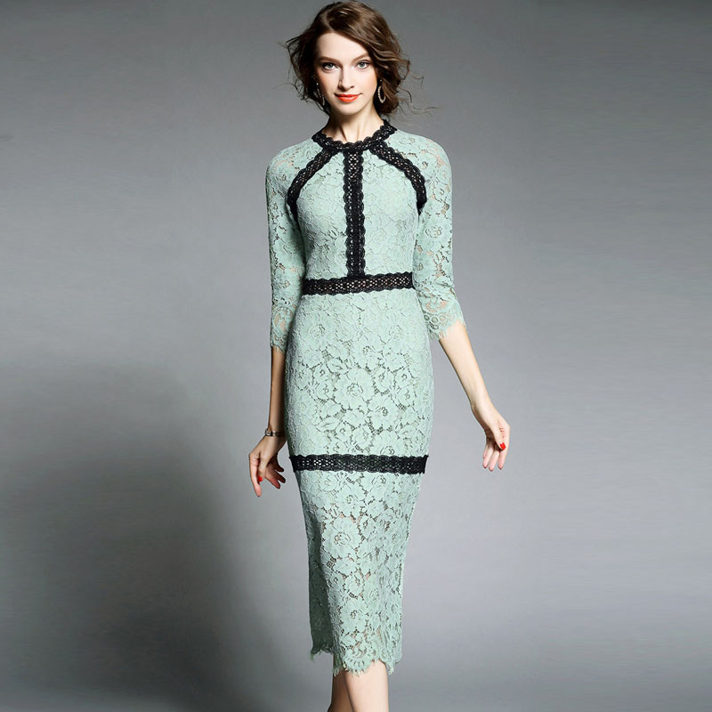 High quality designer runway autumn dress 2016 women new for High couture clothing