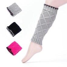 Детские гетры для девочек, модные детские вязаные шерстяные носки ручной работы, сохраняющие тепло, защищающие гетры