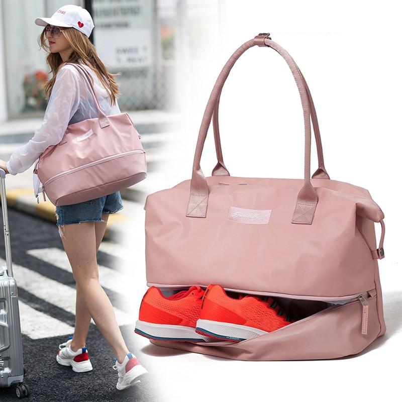 Carry on Luggage Travel Bag Bags Nylon Duffle Dry Wet Women Handbag Weekend Portable Men Tote Traveling Bags For Ladies XA713WB