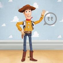 Disney pixar brinquedo história 4, sherif woody cowboy pode falar som e luz buzz lightyear jessie figura de ação brinquedos para presente das crianças