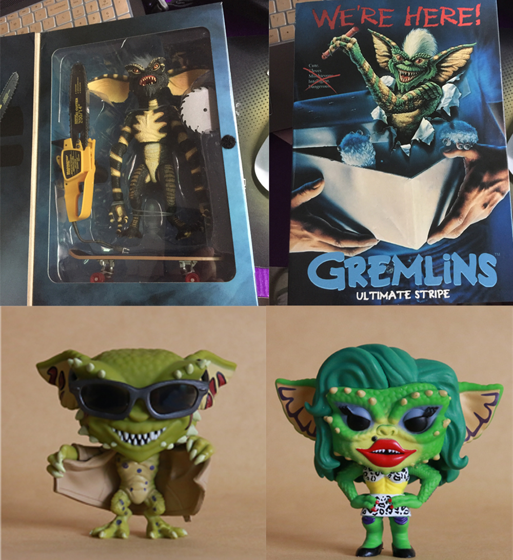 NECA Gremlins ULTIMATE STRIPE Film Gremlins Flashing Gremlin Greta 610 609 Vinyl Action Figure Model Toys Original Collection