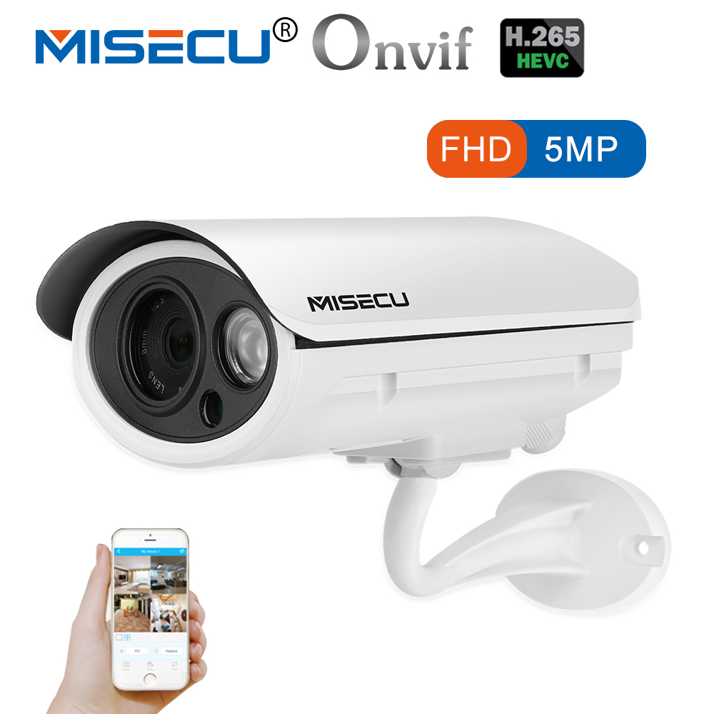 MISECU H.265 IP POE Security Camera Bullet Outdoor Waterproof Video Surveillance Cameras H.265 Network Motion Camera 5MP 4MP 3MP h 265 h 264 2mp 4mp 5mp full hd 1080p bullet outdoor poe network ip camera cctv video camara security ipcam onvif rtsp