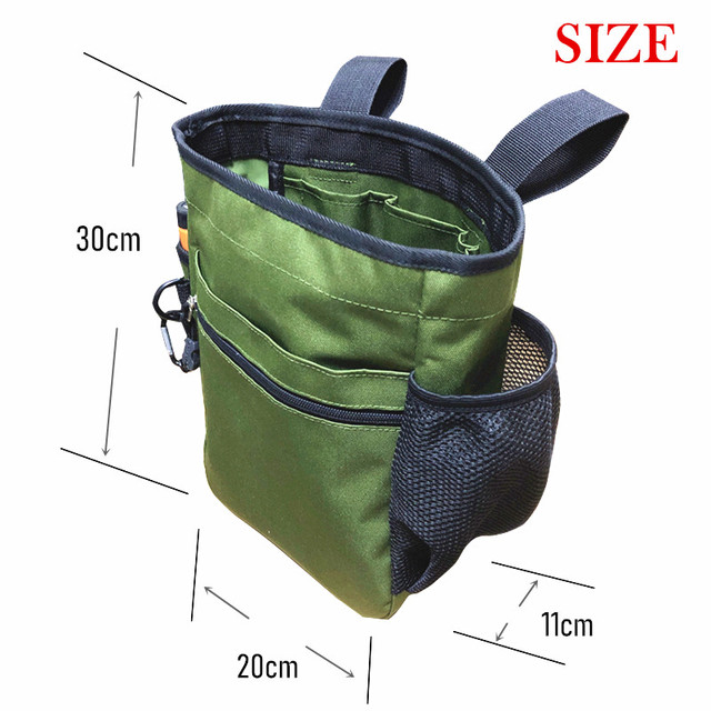Metal Detector Pouch Bag Digger Supply Treasure Waist Pack Good Luck Finds Bag Garden Detecting Tools Shovel Bag