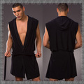 2105 New Arrival Silk Men Robes Bathrobe Sexy Manview Robe sexy Sleepwear Male Kimono Gay Wear