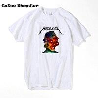 Music Band Metallica T Shirt 2017 Fashion Heavy Metal Rock Top Tees Hip Hop Clothing Short
