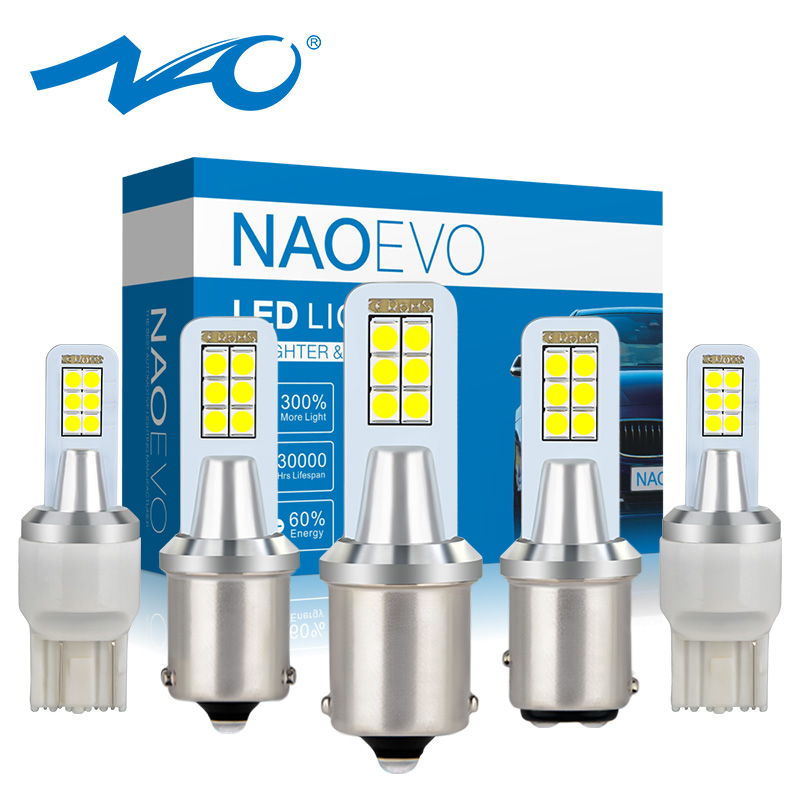 NAO Car-Bulb 1157 Turn-Signal-Light W21w 7443 Led Led P21w Ba15s PY21W 7440 12V DRL Bay15d