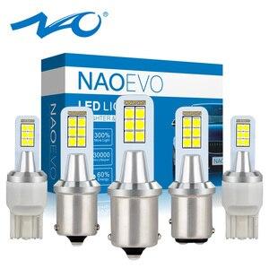 NAO P21W LED PY21W 8W T20 7443 led BAY15D W21W BA15S 1156 Car Bulb 12V W21 5W 1157 7440 Auto BAU15S For E46 Turn Signal Light