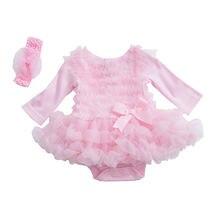 Вечернее платье с оборками для маленьких девочек осеннее принцессы