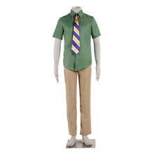 2016 Hot Cartoon Movie Zootopia sloth Flash Cosplay Costume DMV Worker Flash Slothmore Green Shirt with Tie Business Suit