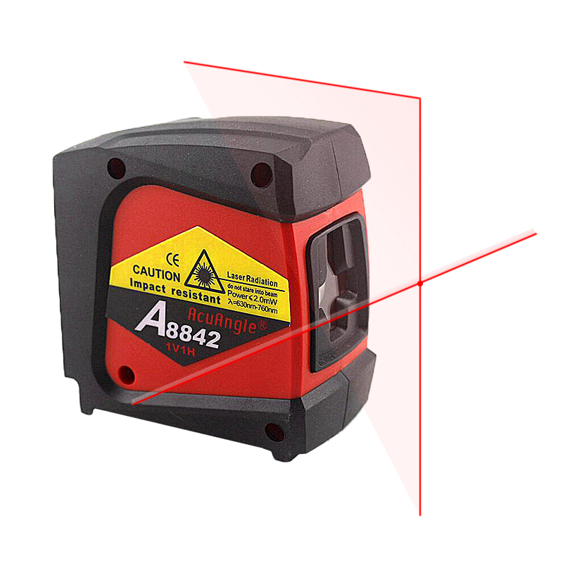 AcuAngle A8842 Laser Level Nivel Laser 360 Self-leveling Rotary Red Cross Line 2 Lines 1 Point  Diagnostic-tool cross line laser the tool measuring laser leveler 5 lines 1 point 4v1h laser level