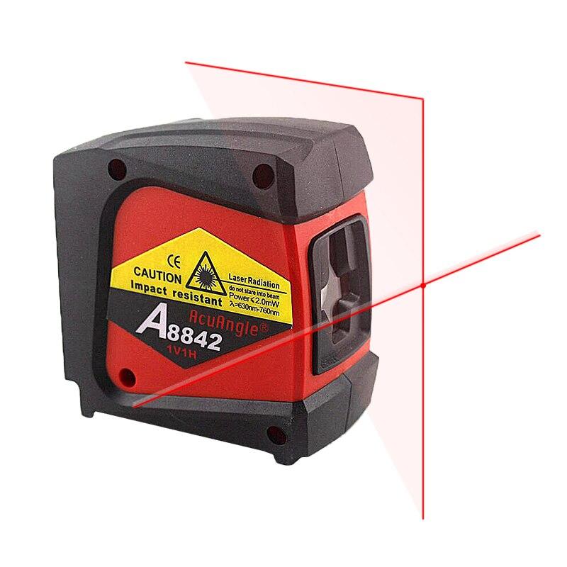Acuangle A8842 лазерный уровень Nivel Лазерная 360 самовыравнивающийся Ротари красный крест линия 2 линии 1 точка диагностический инструмент