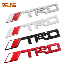 цена на TRD carbon fiber 3D Racing Metal Sticker Car Emblem Badge Decal For Toyota CROWN REIZ COROLLA Camry VIOS Car Styling Accessories