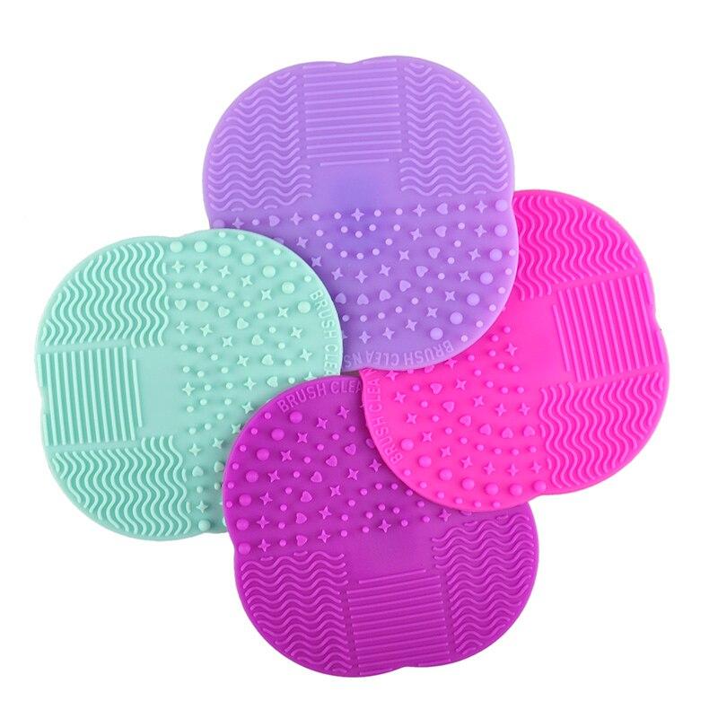 1 Pc 8 Farben Silikon Reinigung Kosmetische Machen Up Waschen Pinsel Gel Reiniger Wäscher Werkzeug Stiftung Make-up Reinigung Matte Pad Werkzeug Warm Und Winddicht