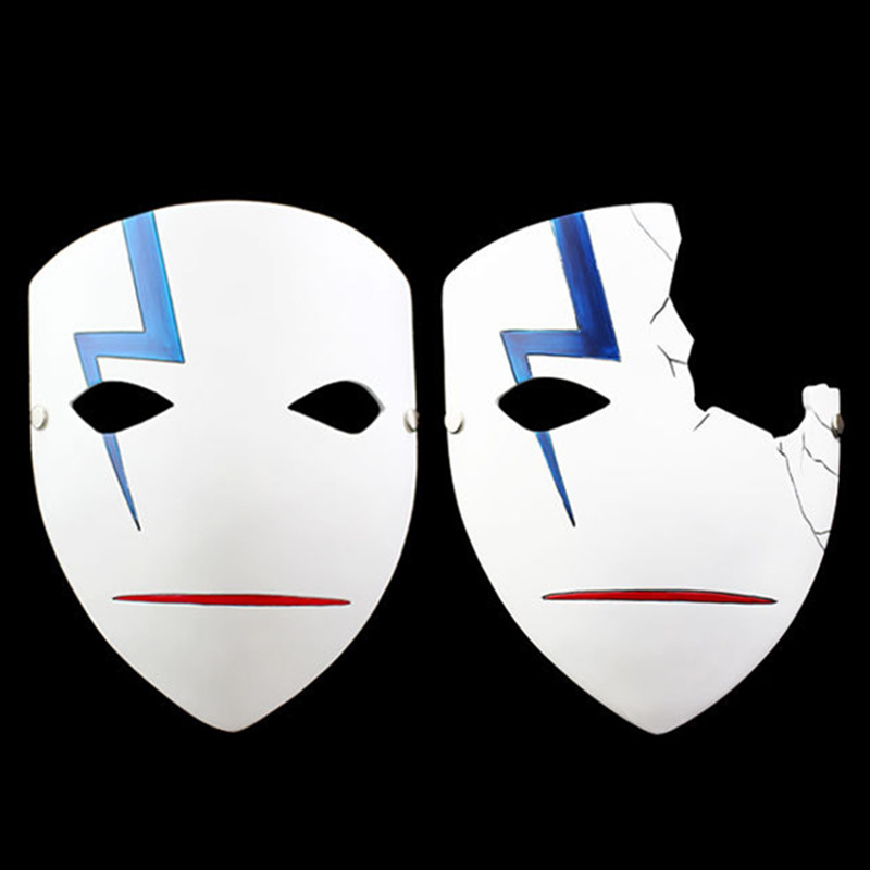 Darker Black Japanese Masks Cosplay Hei Lee Anime Home Decor Halloween Resin Half/Full Face Mask  -  Alair Home store