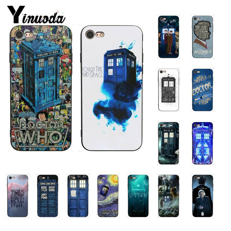 Half-wrapped Case Industrious Yinuoda Doctor Who Tardis Illustrations Blue Tpu Soft Phone Case Cover For Iphone 8 7 6 6s 6plus X Xs Max 5 5s Se Xr 10 Cover Superior Materials