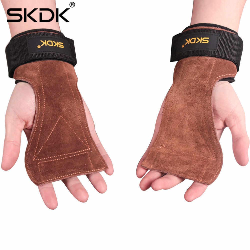 Hot Lederen Handpalm Met Pols Hand Wraps Gewatteerde Mma Boksen Gewichtheffen Fitness Bandages Nieuwe Lederen Slijtvast Materiaal S #4