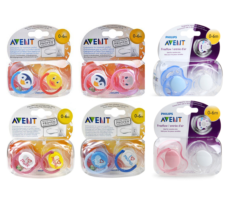 Nipple Silicone Dummy Pacifier Avent Pacifier Newborn Baby Kids Pacifier Clips