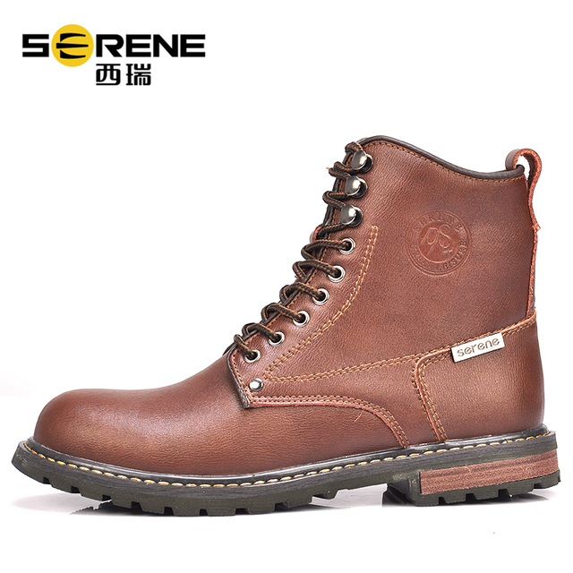 Military Boots For Mens Autumn Shoes Leather Genuine Designer Shoes Lace-up Buffalo Causal Footwear Men's Classic Rubber Shoes