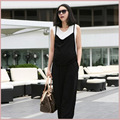 2016 new spring and summer maternity pants tank trousers rombers pregnant pants susperders classic black
