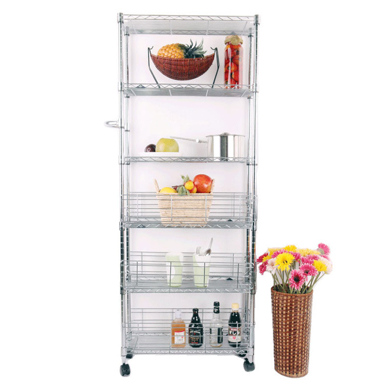 Free shipping US high slit kitchen storage rack shelving metal storage rack trolley wheels caught refrigerator shelves-in Kitchen Knives from Home u0026 Garden ...  sc 1 st  AliExpress.com & Free shipping US high slit kitchen storage rack shelving metal ...