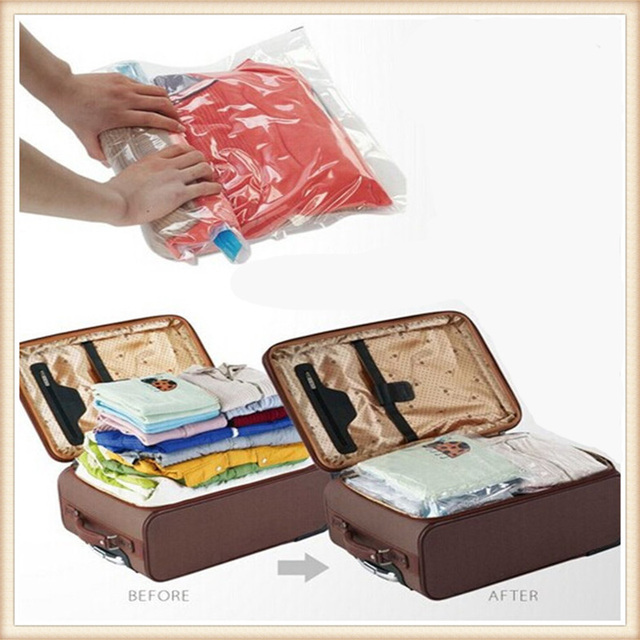 10pcs Lot Storage Bag Vacuum Compression Bags Travel Pouch Package Sorting Clothes Holding