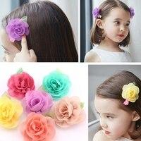 3PCS New Korean Version Of Children Hairpin Roses Baby Girls Princess Hair Accessories