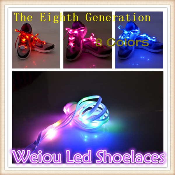 (5 pairs/lot) Hot New Arrival Promotion LED Sport Shoe Laces Flash Light Up Glow led Shoelaces Disco Party Club