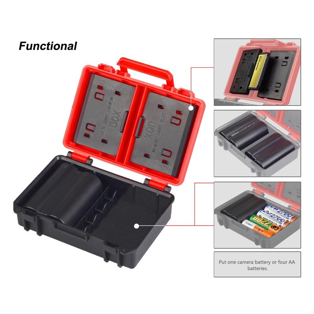 5Pcs Plastic Hard Case Storage Box For Canon Nikon Sony Samsung Camera Battery