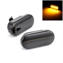 2 шт светодиодный свет мигалка Янтарный дым боковой габаритные огни указатели поворота Светодиодный индикатор для VW Bora Golf 3 4 Passat 3BG поло SB6