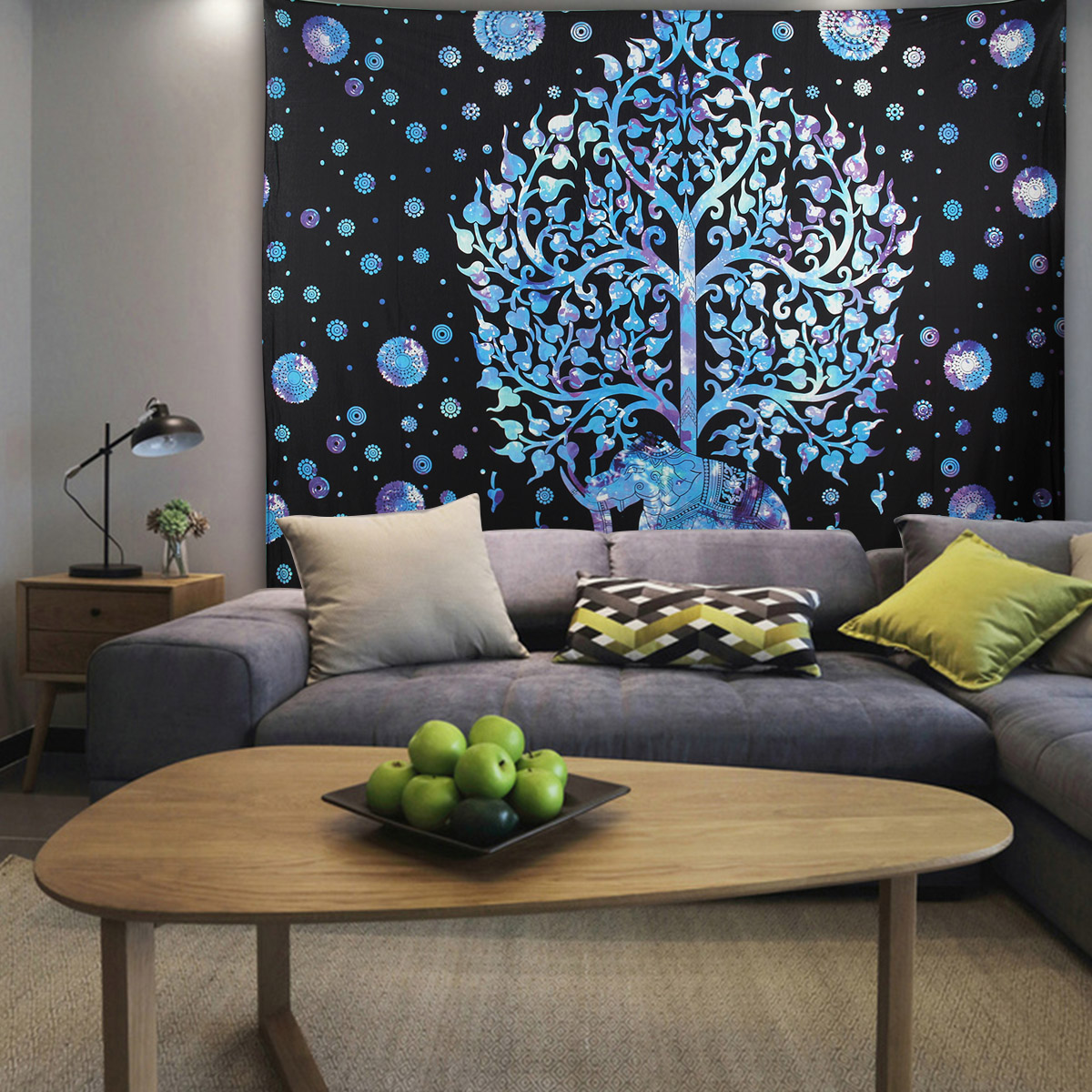 Elephant Mandala Tapestry Throw Towel Hippie Tapestry Floral Printed Home Decor Wall Tapestries Bedspread 210*150CM 22