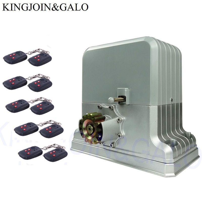 Max Driving 1800kgs Automatic Sliding Gate Opener Operator Kit With 10pcs Remote Control For Access Control System